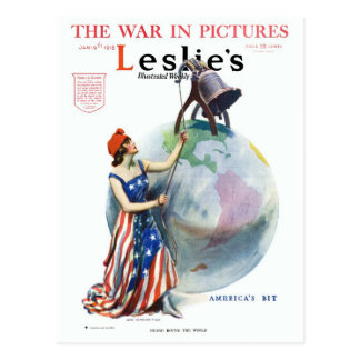 Revista de WWI James Montgomery Flagg Leslie Postal