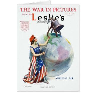 Revista de WWI James Montgomery Flagg Leslie Tarjeta De Felicitación