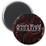 Revista del mundo del artista imán de frigorifico