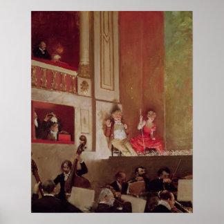 Revista en el DES Varietes, c.1885 del teatro Póster