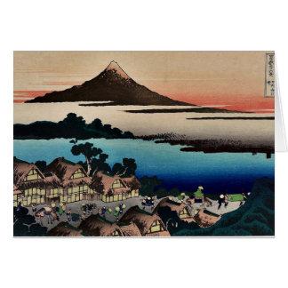 Revista ilustrada para Hokusais 36 vistas del mont Tarjeta De Felicitación