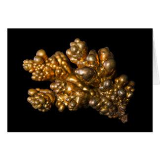 Revista un oro con cobre coloreado mineral En Tarjeta De Felicitación