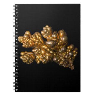 Revista una foto con cobre mineral coloreada oro note book