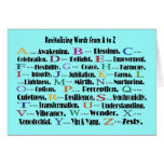 revitalizing words a to z greeting cards