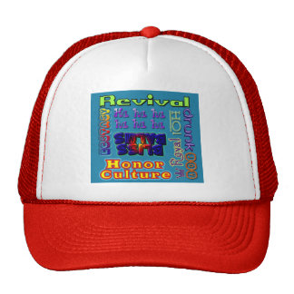 """Revival """"Buzz Words"""" cap Trucker Hat"""