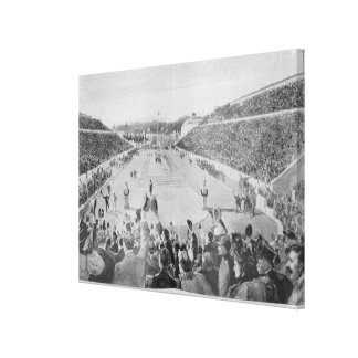 Revival of the Olympic Games in Athens Canvas Print
