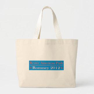 Revive American Pride - Romney 2012 Large Tote Bag