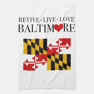 Revive Live Love Baltimore Towel