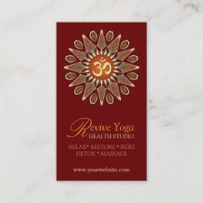 Revive Yoga Om New Age Business Cards