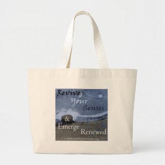 Revive Your Senses and Emerge Renewed Large Tote Bag