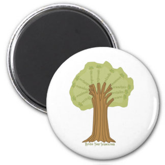Revive Your Senses - Grow Your Mind 2 Inch Round Magnet