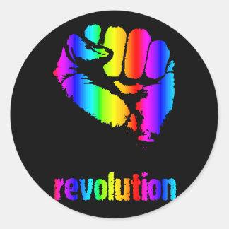 Revo Rainbow/Phoenix Classic Round Sticker