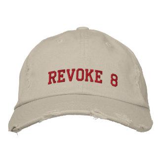 REVOKE 8 EMBROIDERED BASEBALL CAPS