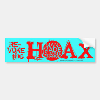 Revoke the hoax of man-made climate change bumper stickers