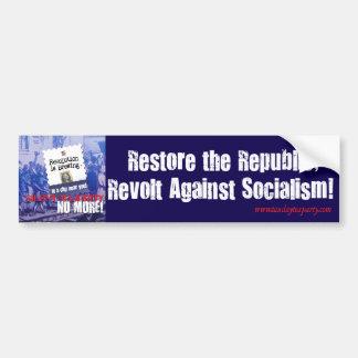 Revolt Against Socialism Bumper Sticker Car Bumper Sticker