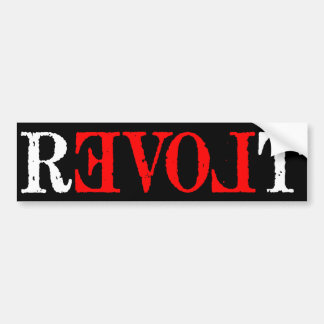 Revolt Bumper Sticker Car Bumper Sticker