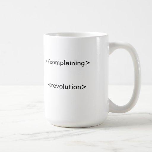 Revolt Classic White Coffee Mug