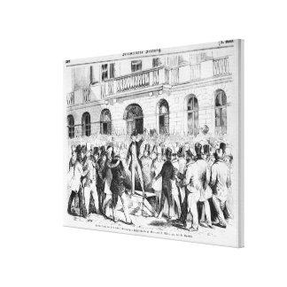 Revolt in Vienna Stretched Canvas Prints
