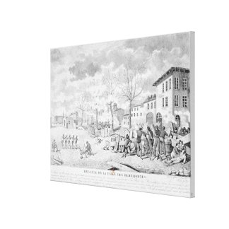 Revolt of the silk workers of Lyon Canvas Print