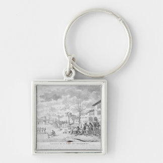 Revolt of the silk workers of Lyon Keychain