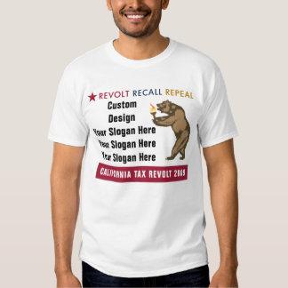 Revolt Recall Repeal - Custom Slogan T-Shirt
