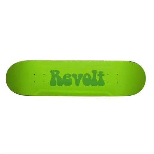 Revolt - Shades of Green Custom Skate Board