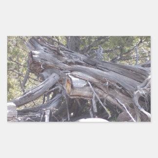 Revoltijo de la madera del envejecimiento pegatina rectangular
