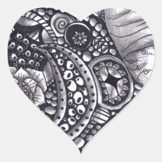 Revoltijo de la naturaleza pegatina en forma de corazón