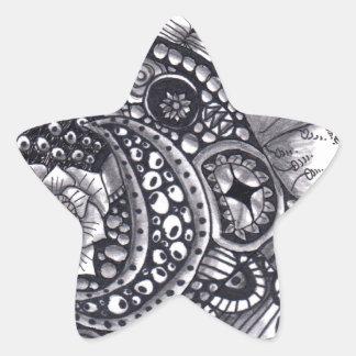 Revoltijo de la naturaleza pegatina en forma de estrella