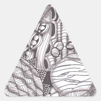 Revoltijo del zen pegatina triangular