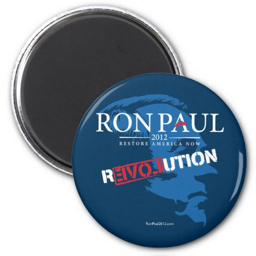 Revolución 2012 de Ron Paul Imán Redondo 5 Cm