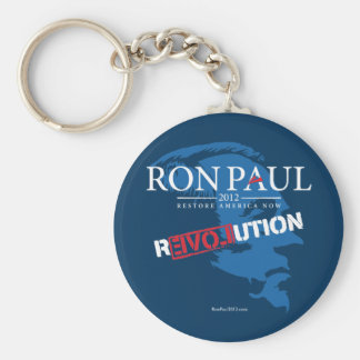 Revolución 2012 de Ron Paul Llavero Redondo Tipo Pin