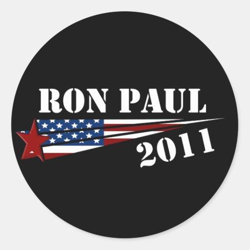 Revolución 2012 de Ron Paul Pegatina Redonda