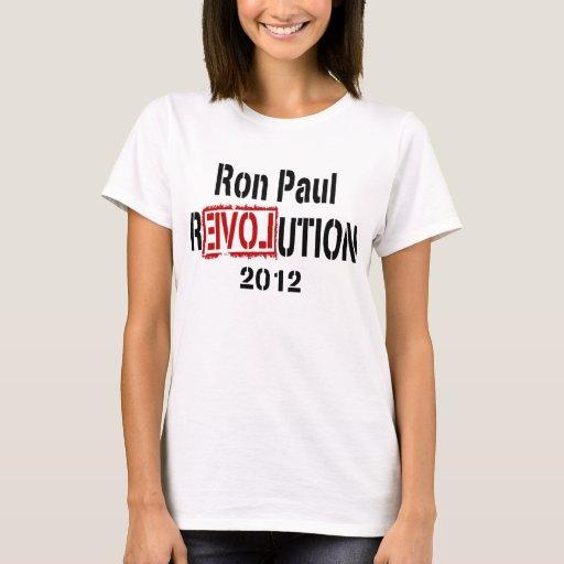 Revolución 2012 de Ron Paul Playera