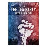 Revolución 2016 de la fiesta del té felicitación