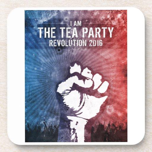 Revolución 2016 de la fiesta del té posavasos