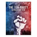 Revolución 2016 de la fiesta del té postales