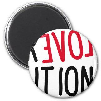 Revolución <3 del AMOR Imanes