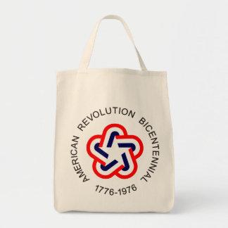 Revolución americana bicentenaria bolsa tela para la compra