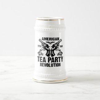 Revolución americana de la fiesta del té tazas