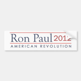 Revolución americana de Ron Paul 2012 Etiqueta De Parachoque