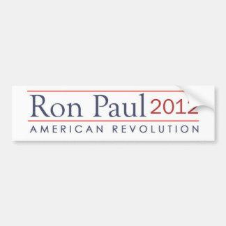 Revolución americana de Ron Paul 2012 Pegatina Para Auto