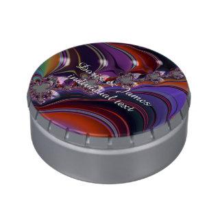 Revolución colorida del fractal especial frascos de caramelos