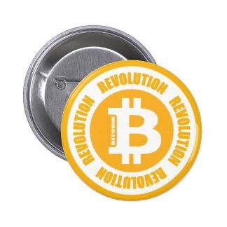 Revolución de Bitcoin (versión inglesa) Pin Redondo 5 Cm