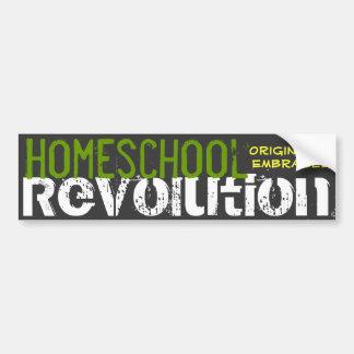 Revolución de Homeschool - originalidad abrazada Pegatina Para Auto