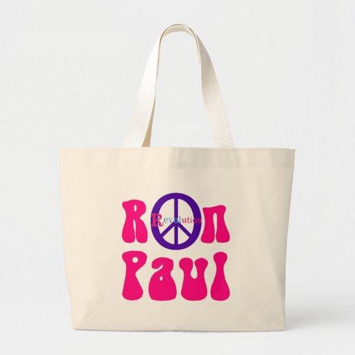 Revolución de la paz de Ron Paul Bolsa Tela Grande