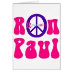 Revolución de la paz de Ron Paul Felicitaciones