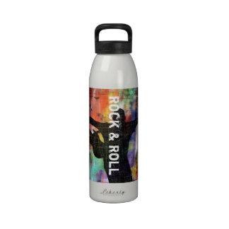 Revolución de la roca y del rollo botella de agua reutilizable
