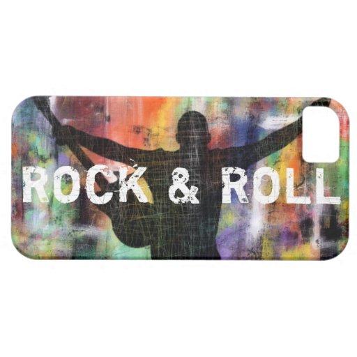 Revolución de la roca y del rollo iPhone 5 carcasas