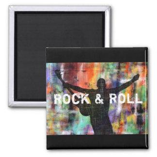 Revolución de la roca y del rollo iman de nevera